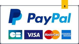 Moyen de paiement sécurisé PayPal CB Visa MasterCard American Express