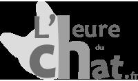 Logo l'Heure du Chat en nuance de gris